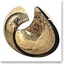 Kosta Boda Art Glass, Lena Bergstrom Planet Golden Leaf, Limited Edition of 20