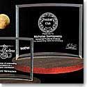 "Crystal Blanc Bent Glass Award 7""x 10.75"""