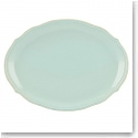 Lenox French Perle Bead Ice Blue Oval Platter