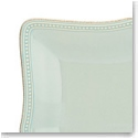 Lenox French Perle Bead Ice Blue Square Dinner Plate