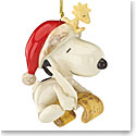 Lenox 2016 Snoopy's List for Santa Ornament