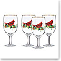 Lenox Winter Greetings Cardinal Iced Beverage, Set of 4