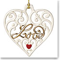 Lenox Gifts from the Heart Love Pierced Heart Ornament