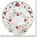 Royal Albert China New Country Roses White, Vintage Formal 5 Piece Place Setting