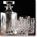 Royal Doulton, Spirit Set, Square Crystal Decanter With Four Crystal DOF Tumblers