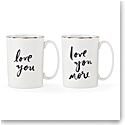 Lenox Kate Spade Bridal Party Love You and Love You More Mug Set