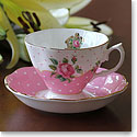 Royal Albert China New Country Roses Cheeky Pink Vintage Teacup and Saucer Boxed Set