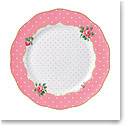Royal Albert China New Country Roses Cheeky Pink Vintage Dinner Plate, Single