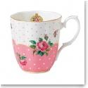 Royal Albert China New Country Roses Cheeky Pink Vintage Mug