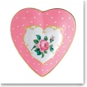 Royal Albert China New Country Roses Heart Tray, Pink