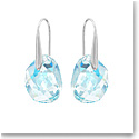 Swarovski Light Azore Blue Galet Pierced Earrings