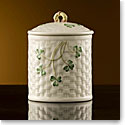 Belleek China Shamrock Jar 1937 - 1947, Limited Edition of 1,200