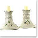 Belleek Tara 4in Candlesticks Pair