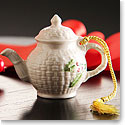 Belleek Miniature Teapot Ornament
