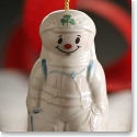Belleek Alpine Snowman Ornament