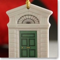 Belleek China Georgian Green Door Ornament