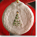 Belleek Holly Wreath Ornament