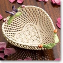 Belleek China Rose Bud Heart Basket