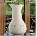 "Belleek China Shamrock Lace 10"" Vase"