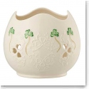 Belleek China Shamrock Lace Pierced Votive