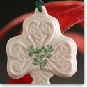 Belleek China Shamrock Puff Ornament