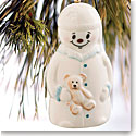 Belleek China Night Before Christmas Snowman 2016 Ornament