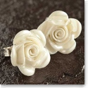 Belleek China Rose Pierced Earrings
