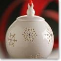 Belleek Living Snowflake with Gems Bauble Ornament