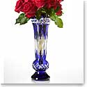 "Waterford Fleurology Amy Cobalt Case 14"" Bouquet Vase"