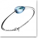 Baccarat Fleurs De Psydelic Large Silver and Aqua Mirror Bracelet