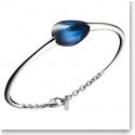 Baccarat Fleurs De Psydelic Large Bracelet, Silver and Blue Mordore