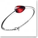 Baccarat Fleurs De Psydelic Large Bracelet, Silver and Iridescent Red