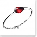 Baccarat Fleurs De Psydelic Small Bracelet, Silver and Iridescent Red