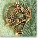 Cashs Connemara Marble Basket Pin