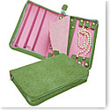 Reed and Barton Naples Zippered Jewelry Case, Green