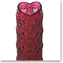 Lalique Amour Heart Vase, Red