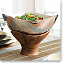 Nambe Metal and Wood Cradle Round Bowl, 12 3/4in