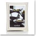"Nambe Metal Beaded 5x7"" Picture Frame"