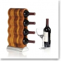 Nambe Metal and Wood Gourmet Curvo Wine Rack