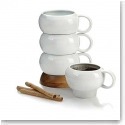 Nambe Wood Gourmet Bulbo Mug Stack Set of 4
