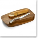 Nambe Wood Blend Bread Board With Knife