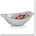 Nambe Metal Drift Large Bowl With Wooden Servers
