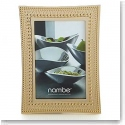 "Nambe Metal Beaded Gold 4x6"" Frame"