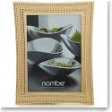 "Nambe Metal Beaded Gold 5x7"" Frame"