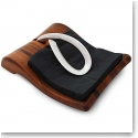 Nambe Gourmet Breeze Metal and Wood Napkin Holder