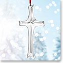 Nambe Glass 2017 Cross Ornament