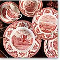 Johnson Brothers China Old Britain Castles Pink Salt and Pepper Set