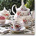 Royal Doulton Royal Albert Rosa Covered Sugar