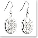 Cashs Sterling Silver Oval Trinity Knot Drop Pierced Earrings Pair
