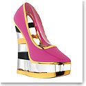 Kosta Boda Make Up Cerise Shoe, Stripe